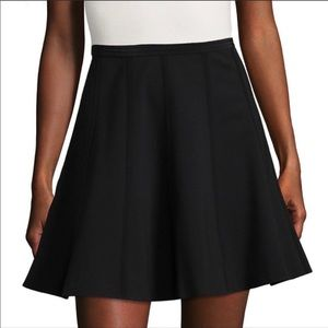 Rebecca Taylor Black Pleated A-Line Lauren Skirt